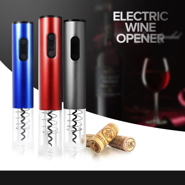 Electric Wine Opener Cordless With Foil Cutter And Vacuum Stopper