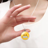 Cute Emoji Pendant Necklace for Women Gift