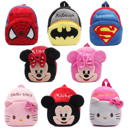 Mini School Cute Cartoon Plush Backpack Gift For Kids