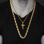 Cross INRI Crucifix Jesus Pendant Necklace Jewelry For Men