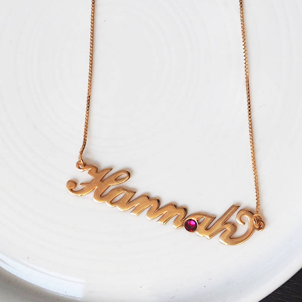 Custom Name And Birthstone Necklaces With Heart Fashion - Best Gift
