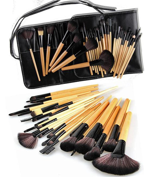 Horse Hair 24 PCS Brush kit Of Cosmetic With Bag