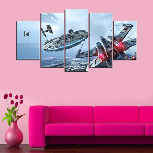 Star War Fighting Missions 5 Piece Canvas Wallart - HD Quality