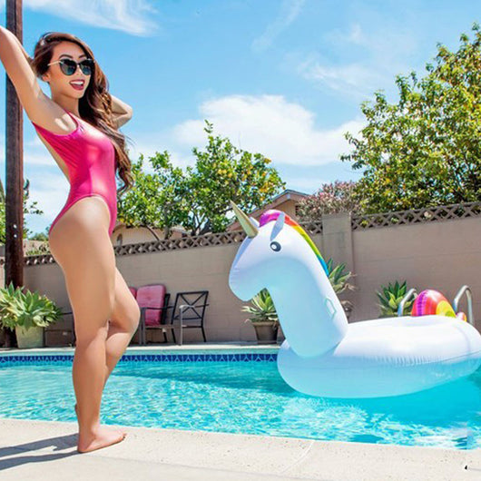 Inflatable Unicorn And Flamingo Swimming Pool Float Toy