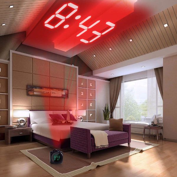 LED Digital Talking Projection Alarm Clock