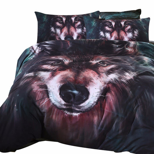 3pcs Wolf Bedding Outlet Set 3D Painting