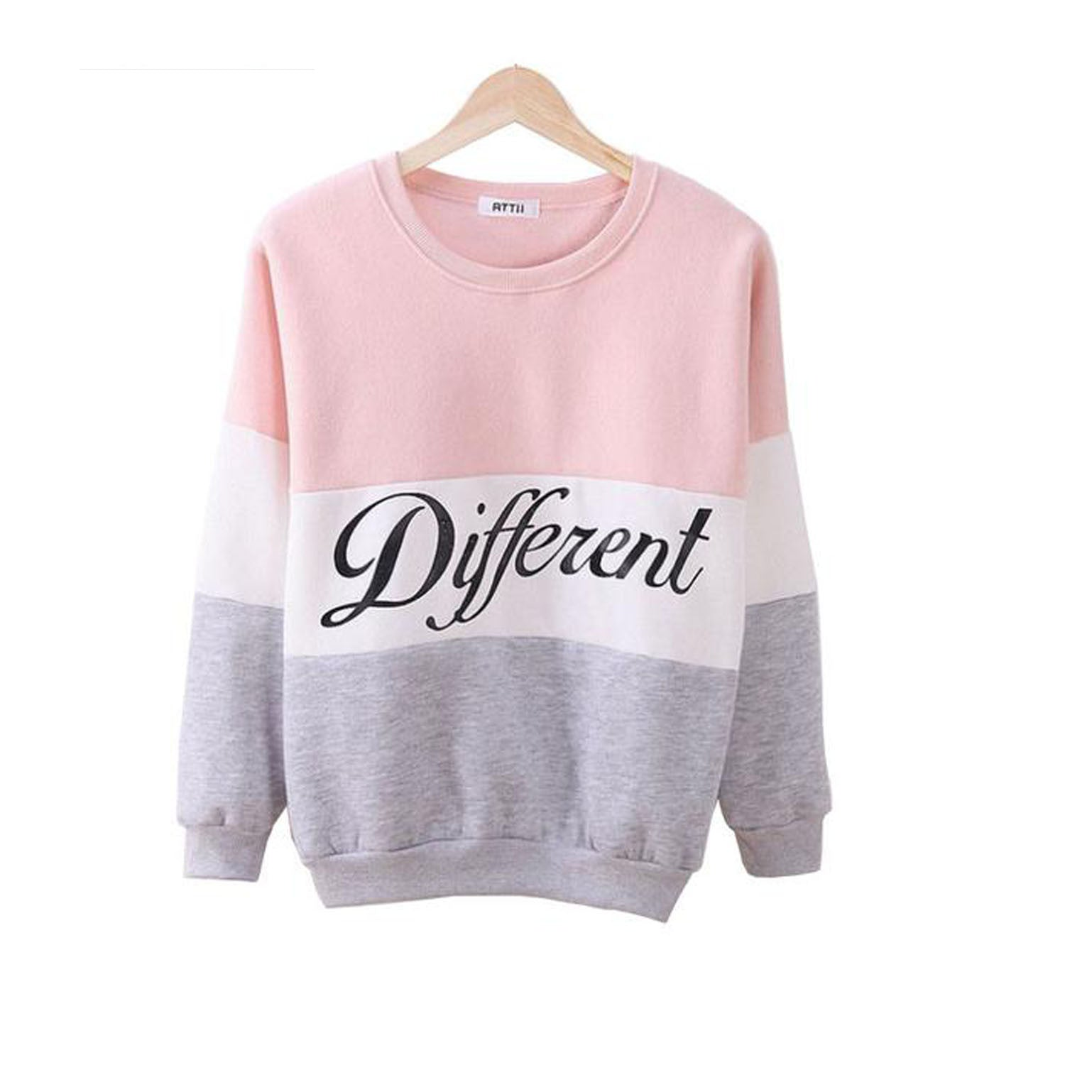 Printed Letters Tracksuit For Women's Casual Sweatshirt Hoodie