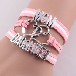 2016 new hot selling heart MOM love DAUGHTER Bracelet best Christmas Gift!