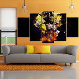 DBZ Goku Super Saiyan Forms 5 Piece Canvas Wallart - HD Quality