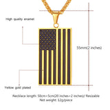 American Flag USA Patriot Freedom Stars and Stripes Pendant Necklace For Men/Women