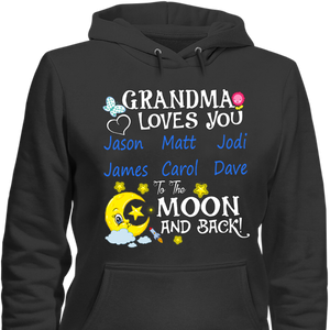 Grandma Loves You To The Moon And Back Tshirt