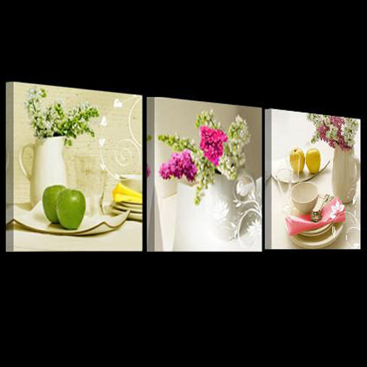 ... 3 Panels Modern Wall Pictures For The Kitchen  Canvas HD Fruit Wall Art  ...