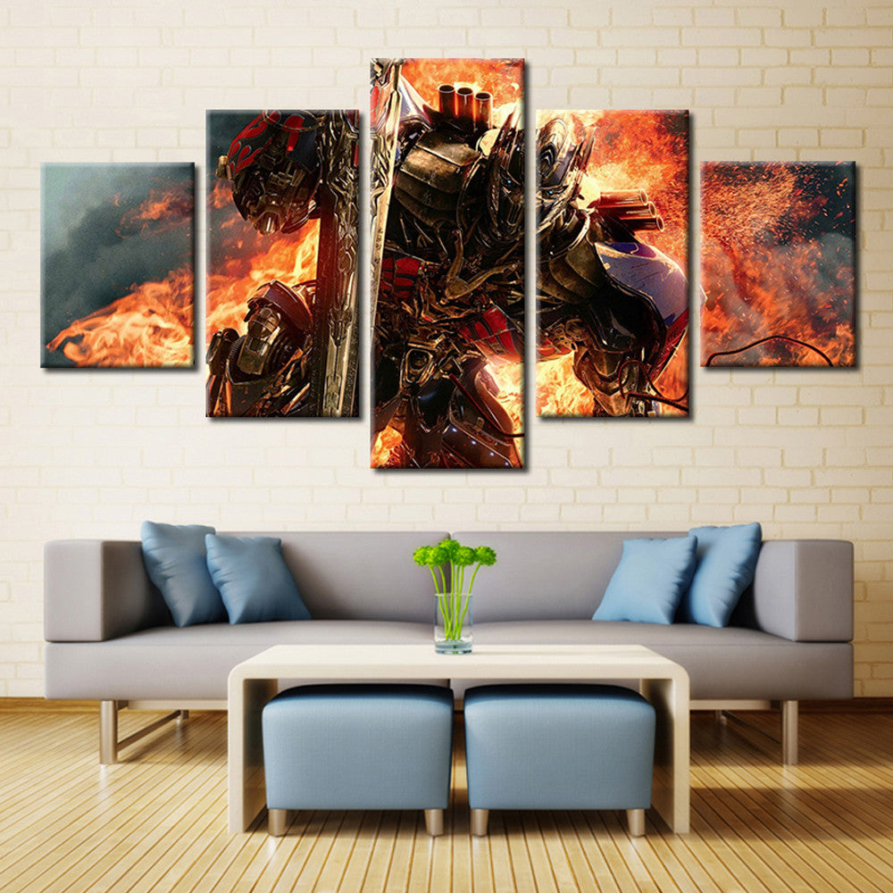 Transformers 5 Piece Canvas Wallart - HD Quality