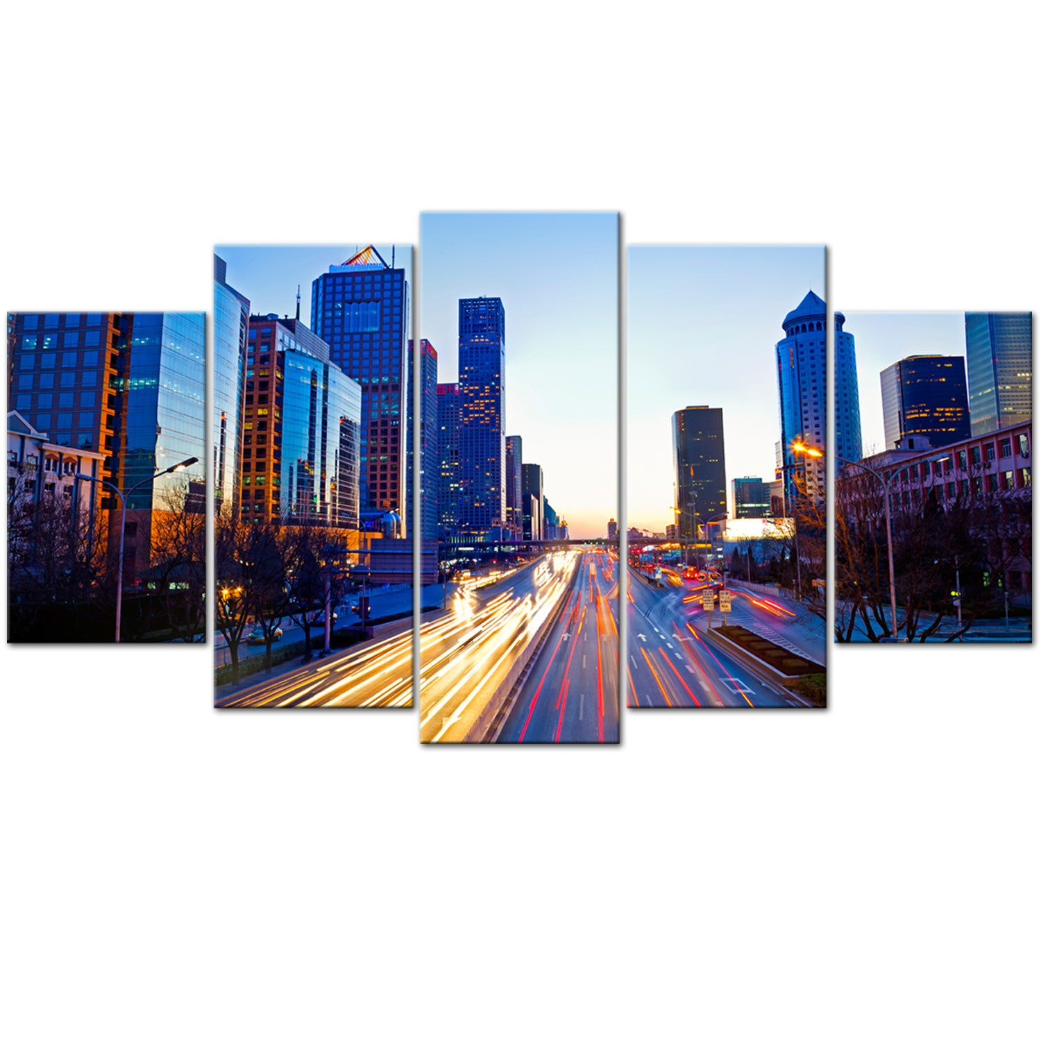 Guanghua City 5 Piece Canvas Wallart - HD Quality