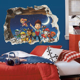 3D Ryder Marshall Rubble Cute Cartoon Wall Sticker - Best Gift For Kids