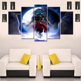 Broly – The Legendary Super Saiyan 5 Piece Canvas Wallart - HD Quality