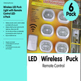 6 Pack Kit Lightning Set LED Wireless Puck Lights with Remote