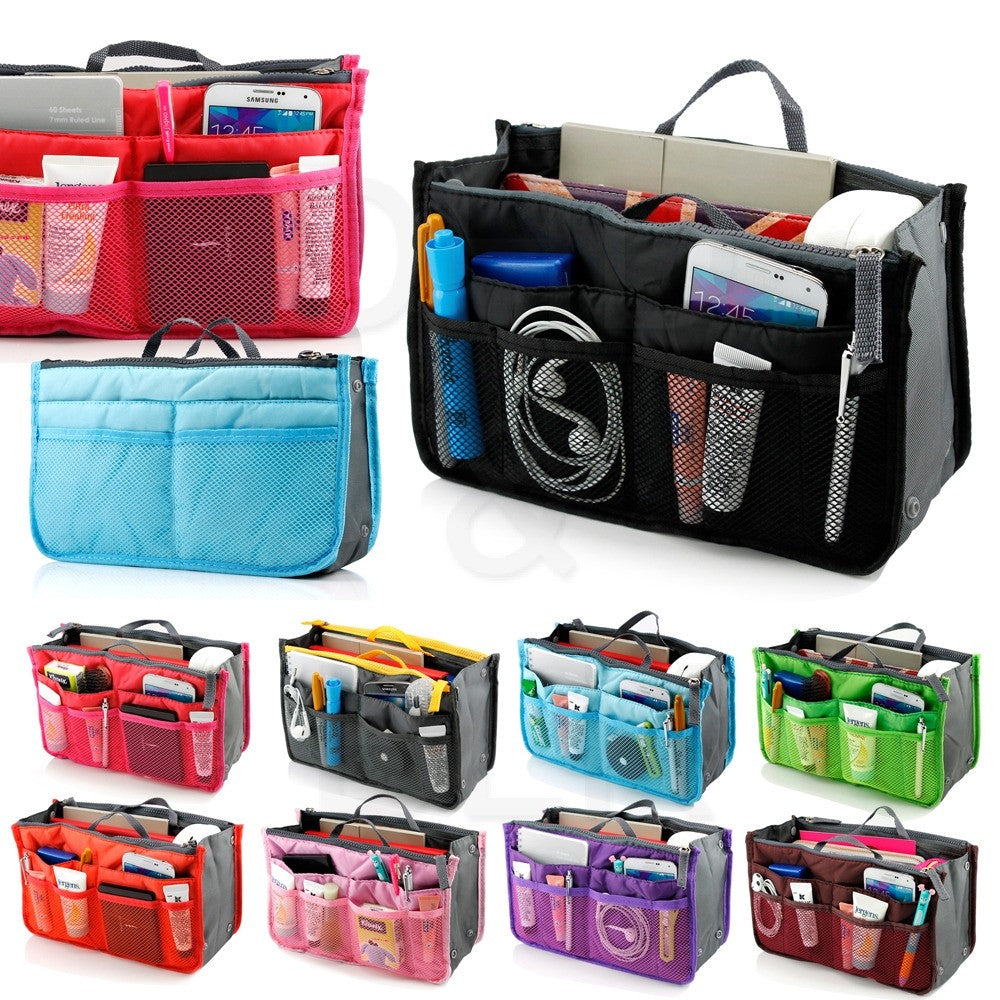 Slim Bag-in-Bag Purse Organizer - Assorted Color
