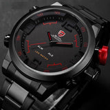 Digital Quartz LED Men's Military Army Sport Watch - Waterproof