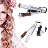 Beauty Hair Iron 2-Way Curling And Hair Straighten Device