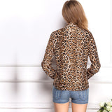Fashion Designed Leopard Pattern Long Sleeve Shirt/Blouse For Women