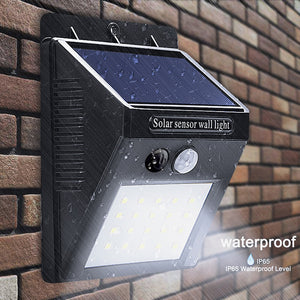 LED Solar Power Motion Sensor Wall Light Weatherproof outdoor light