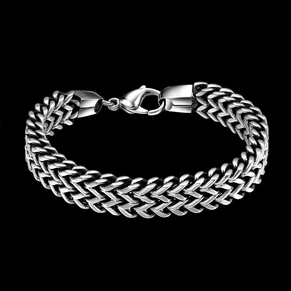 Men's Bracelets Stainless Steel Wrist Hand Chain - Jewelry Gift