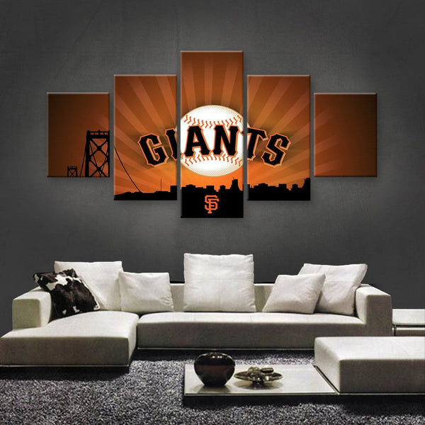 California Giants 5 Piece Canvas Wallart - HD Quality