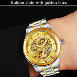 Stainless Steel Automatic Dragon Watches for Couples - Perfect Gift