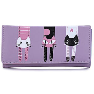 Hanging Out Cat Wallet