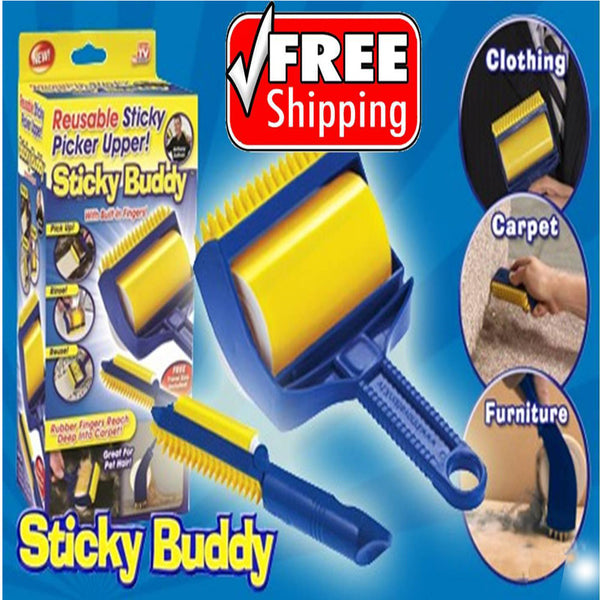 Sticky Buddy Hair Brush Clothing Dust Roller Sticking Device