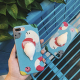 3D Cute Soft Silicone Squishy Cat Phone Case For iPhone
