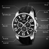 Luxurious Stainless Steel Men's Waterproof Quartz with Stopwatch