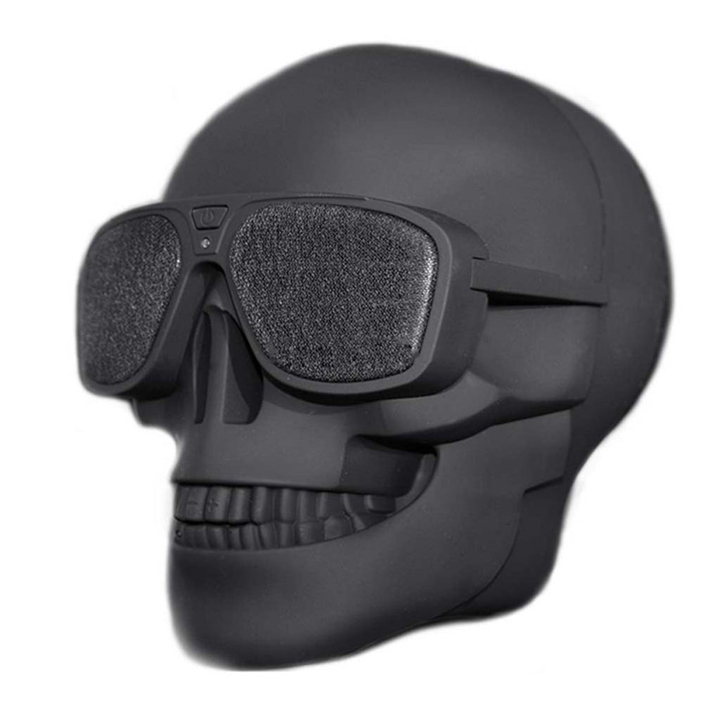 Multipurpose Skull Shape Wireless Bluetooth Speaker With Sunglasses
