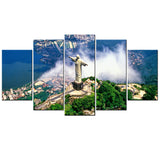 Christ the Redeemer 5 Piece Canvas Wallart - HD Quality