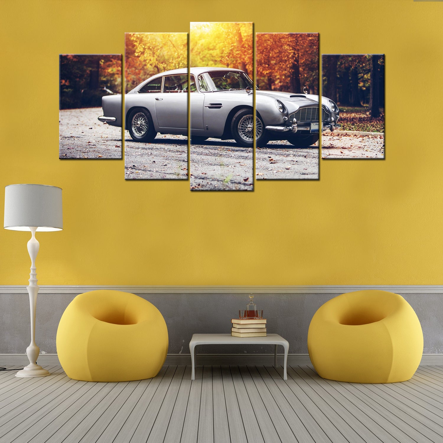 Autumn Ride 5 Piece Canvas Wallart - HD Quality