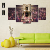 Fantasy Buddha 5 Piece Canvas Wallart - HD Quality