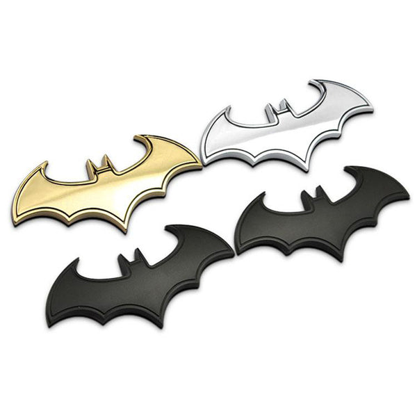 BATMAN 3D CHROME EMBLEM LOGO FOR AUTOMOBILE OR MOTORCYCLE