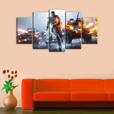 BATTLEFIELD Game Of 5 Pieces Canvas Wall Art - HD Quality