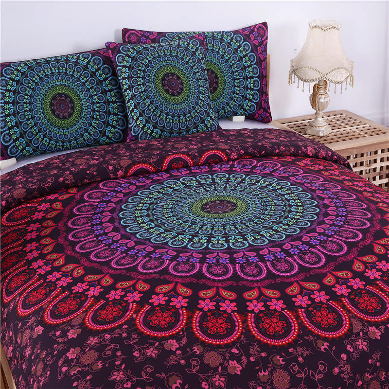3 PCs Romantic Soft Printed Bedclothes