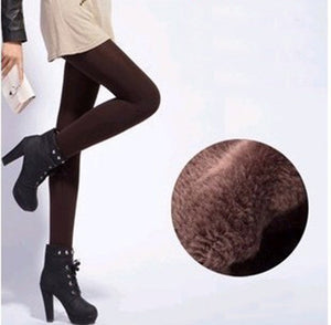 Women's Fashion Winter High Elasticity Warm Velvet Leggings Pants