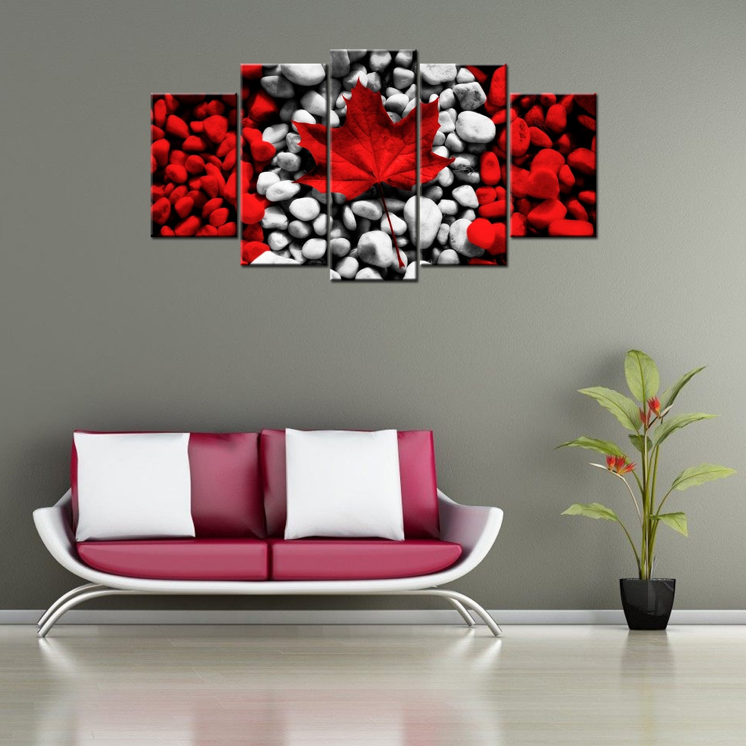 Canada Rocks 5 Piece Canvas Wallart - HD Quality