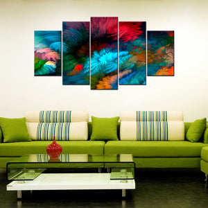 Colorful Display 5 Piece Canvas Wallart - HD Quality