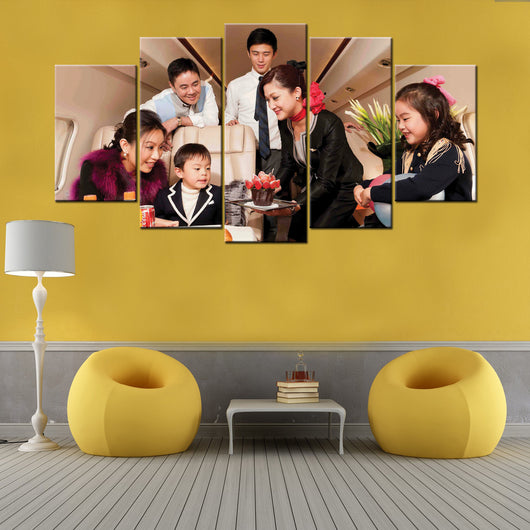 Customized Family ,Birthday ,Wedding 5 Piece Canvas Wallart - HD ...