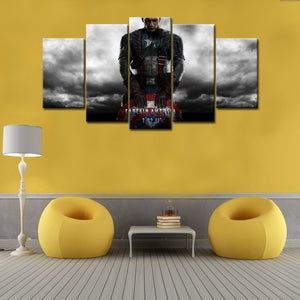 5 Piece Of Captain America Canvas Wall Art - HD Quality