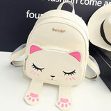 Women's Fashion School Funny Cat Backpacks - Best Gift For Cat Lovers