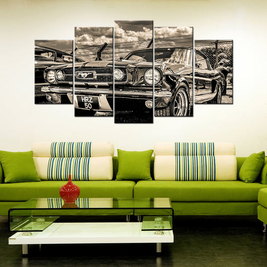 Classic Mustang 5 Piece Canvas Wallart - HD Quality