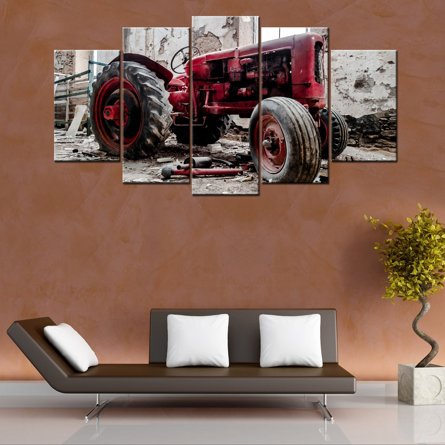 Classic Tractor 5 Piece Canvas Wallart - HD Quality