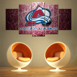 Colorado Avalanche 5 PIECES CANVAS WALLART -HD QUALITY