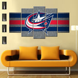 Columbus Blue Jackets 5 PIECES CANVAS WALLART -HD QUALITY